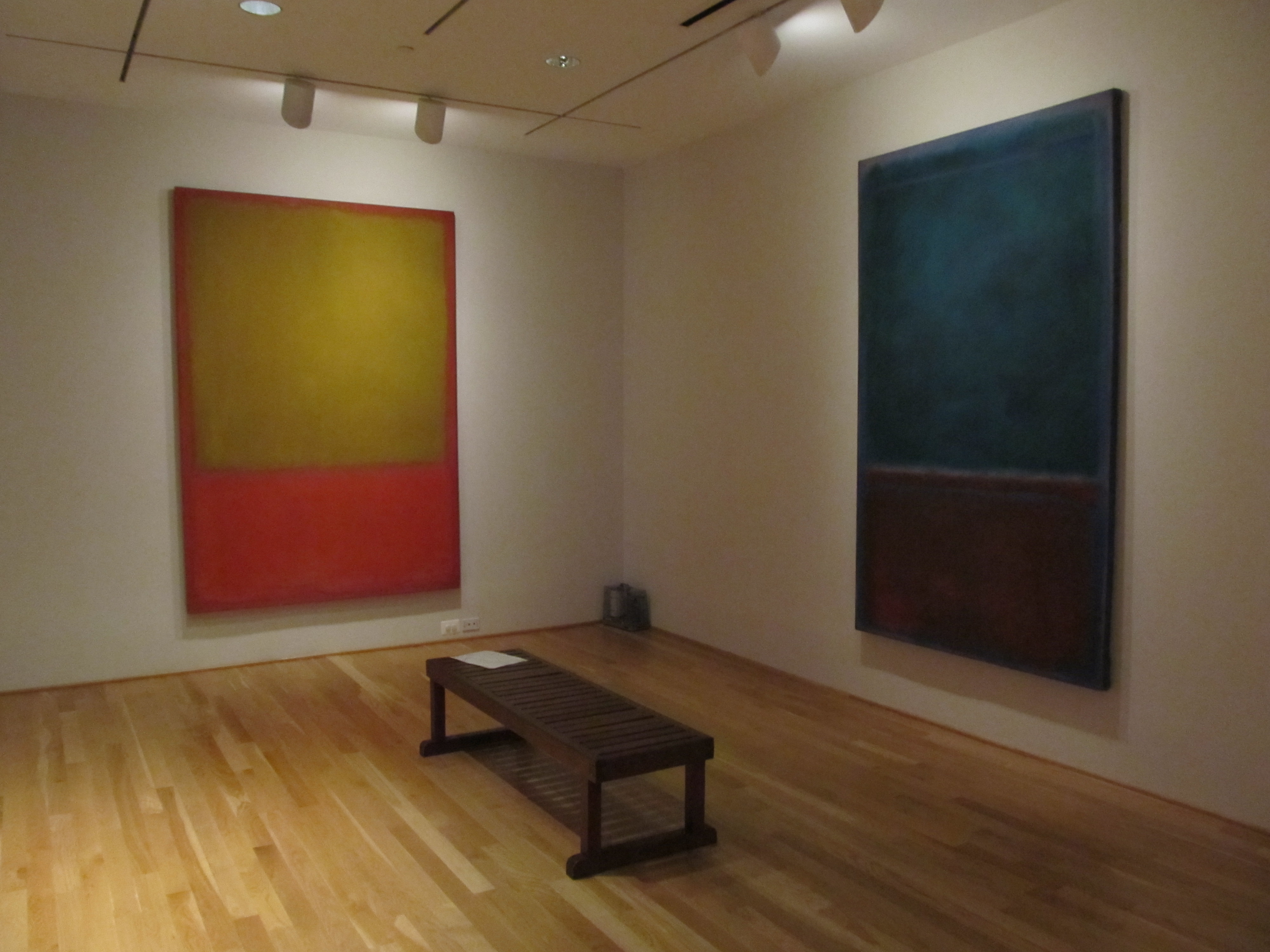 Rothko denies a desire to enchant  He only invites reflection  the weather  his colors create can be ominous  Frequently it is just vaguely troubled. RED  Return to the Rothko Room   The Making of RED