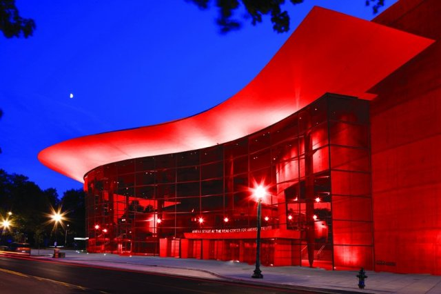 The PR department virtually painted the Arena Stage RED to celebrate performance number 100
